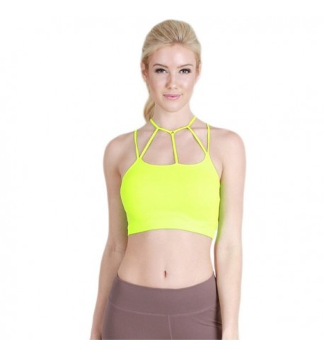 Nikibiki Criss Cross Bralette Neon Yellow