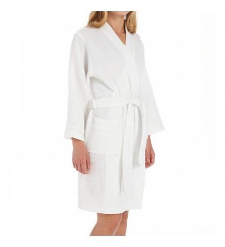 KayAnna Waffle Kimono S08084 White