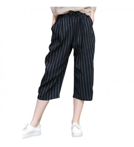 YOU U Women Casual Striped Tapered