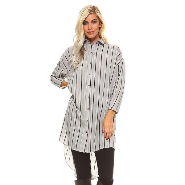 Frumos Womens Sleeve Striped X Large