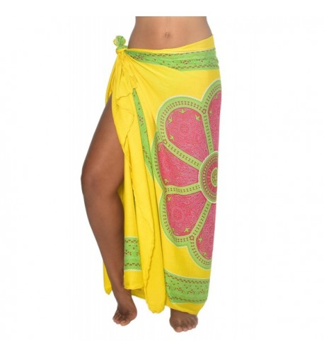 b01aeeab5d Womens Sarong Swimsuit Beach Cover Up Mandala Design Sequins Clip ...