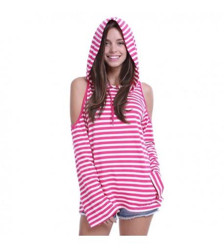 Fancyqube Shoulder Striped Kangaroo Sweatshirt