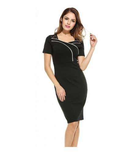 ANGVNS Womens Colorblock Bodycon Business