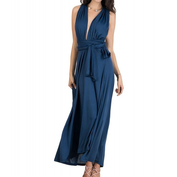 Persun Womens Plunge Waist Ruched