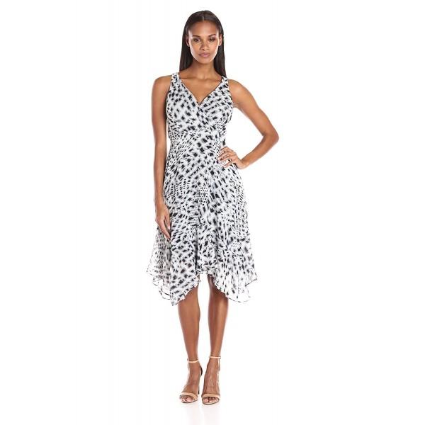 MSK Womens Hanky Woven Dress