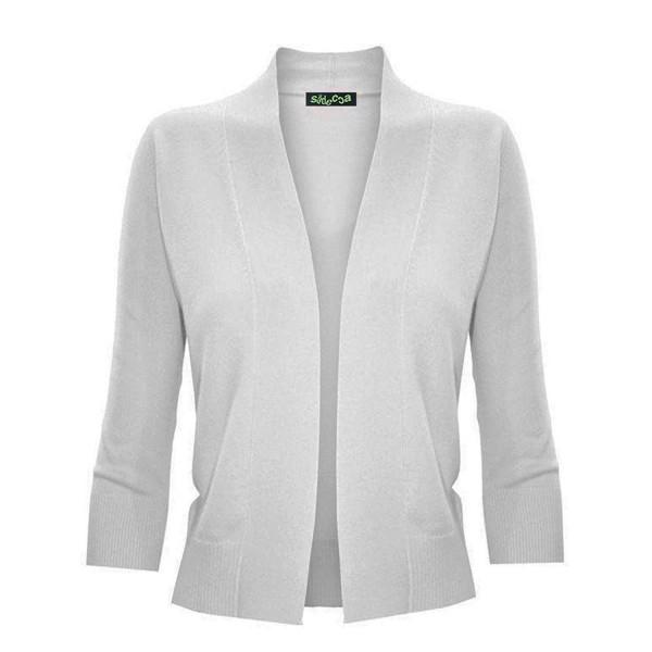 Sidecca Womens Sleeve Cropped Cardigan