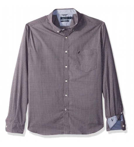 Nautica Standard Sleeve Plaid Button