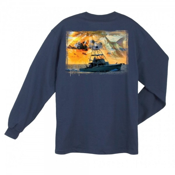 Guy Harvey Cruisin Sleeve Shirt