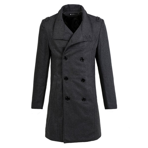 Allegra Epaulets Button Closure Peacoat