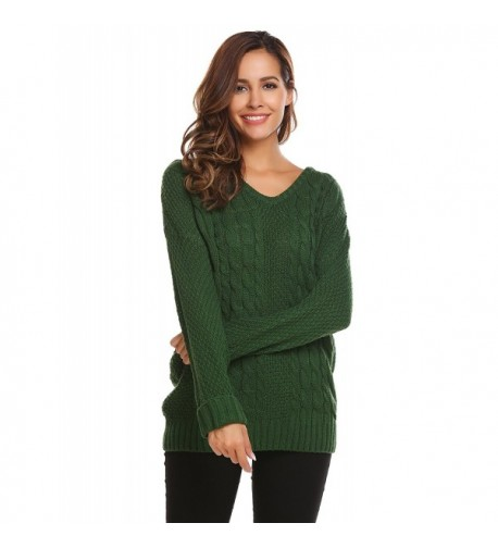 Women Casual Loose Sweater Pullover