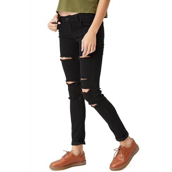 GLOSTORY Skinny Distressed Stretch PantsWNK 2104