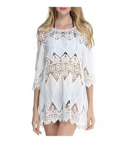 Ayliss Beachwear Crochet Swimsuit White 2
