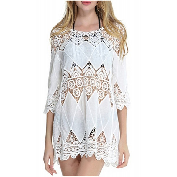 12a672407cc49 Ayliss Beachwear Crochet Swimsuit White 2. . Ayliss Beachwear Crochet  Swimsuit White 2. Women's Swimsuit Cover Ups Outlet