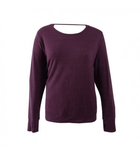 Ideology Womens Sleeves Casual Purple