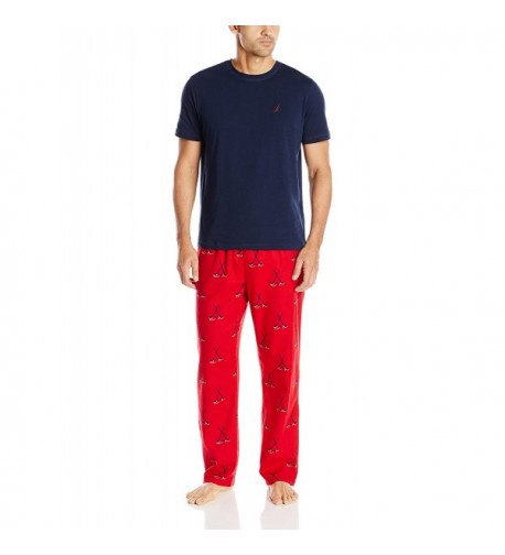 Nautica Pajama Shirt Hockey Medium