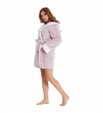 42a439f20a Women s Robe For Women With Koala Hood (Gray Pink) - Pink - CF180LSYG3N
