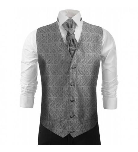 Wedding Silver Paisleys Tuxedo Accessories