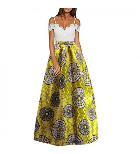 C US African Floral Pleated Pockets