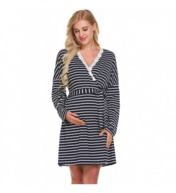 71f16ed5c3e9 Gboon Maternity Breastfeeding Nightgowns Loungewear  Fashion Women s Robes  for ...