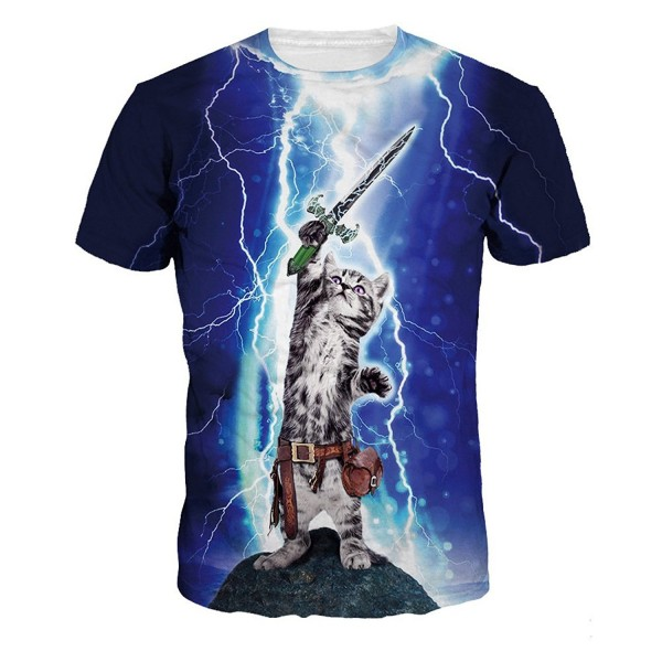 ColorFino Printing Lightning T shirt Clothing