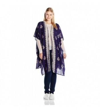 8f207e1cd36d7 Women s Plus Size Printed Kimono Duster - Navy - CC12MQ34R7R