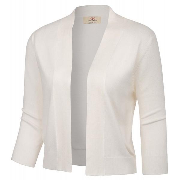 d90b5379e9fa ... Shrug Cropped Bolero Jacket - Ivory - CC1898L3NO9. GRACE KARIN Knitting  Cardigan Student