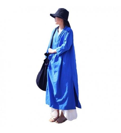 Aeneontrue Womens Cotton Cardigans Sleeve