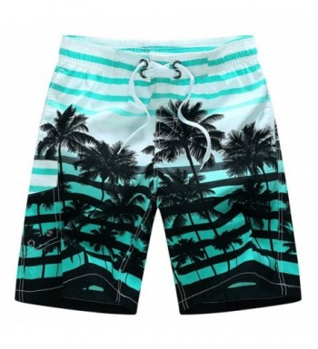 Coconut Printed Stripe Shorts Trunks