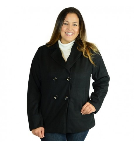 Ohconcept Collection Double Breasted Peacoat