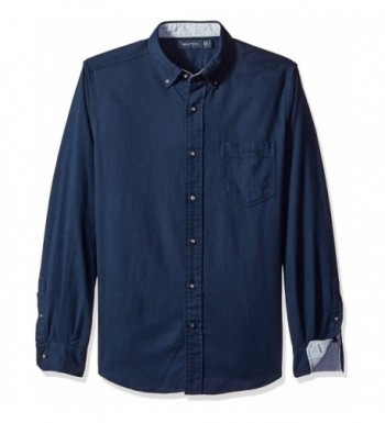 Nautica Mens Moleskin Shirt Indigo