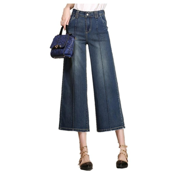 3c3c04c9b9 Tengfu Women S Loose Relaxed Straight Wide Leg Denim Pants Jeans