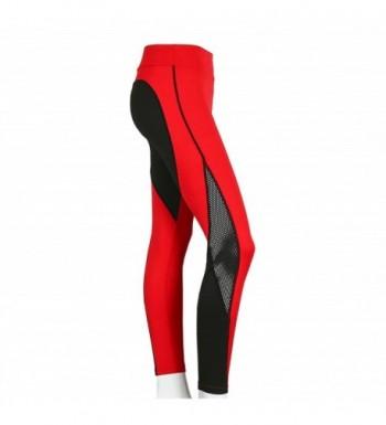 DALLNS Leggings Breathable Patchwork Black Red