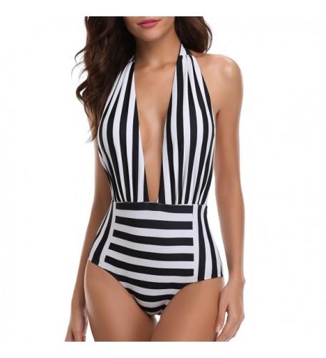 Holipick Strappy Monokini Backless Swimsuit