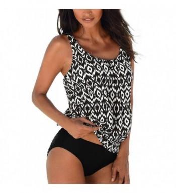 MOOSUNGEEK Womens Ruched Tankini Swimsuits