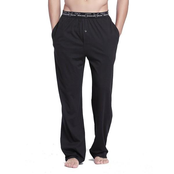 CYZ Cotton Jersey Pajama Pants Black M
