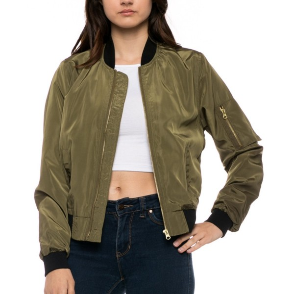 Fashionazzle Womens Lightweight Classic BLJ03 Olive