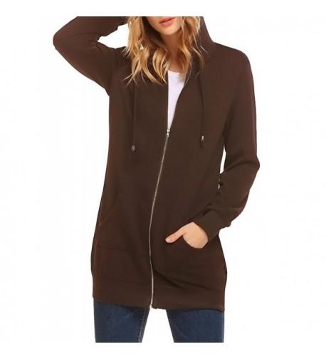 MISELON Womens Hoodies Pockets Sweatshirt