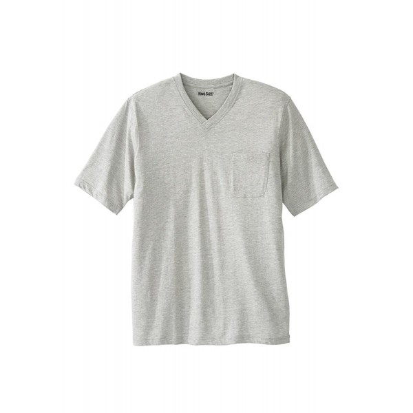 Lightweight Cotton V Neck Heather Big 3Xl