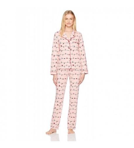 Mae Womens Collar Pajama Festive