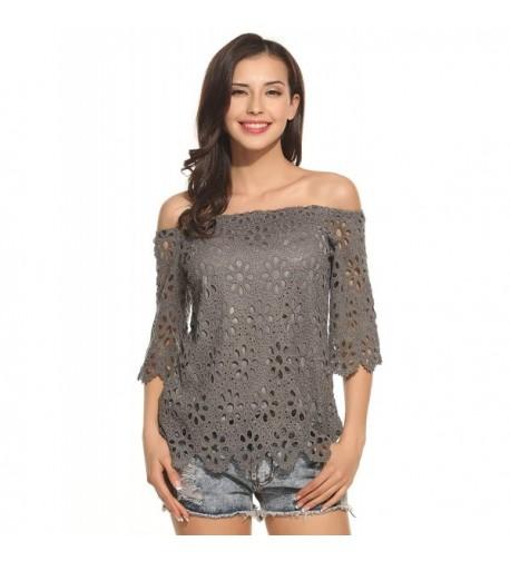 Zeagoo Womens Shoulder Sleeve Crochet