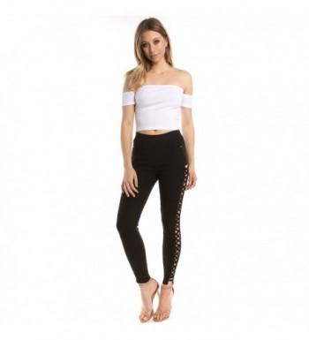 Trinity Jeans Embellished Leggings Black_Crisscross