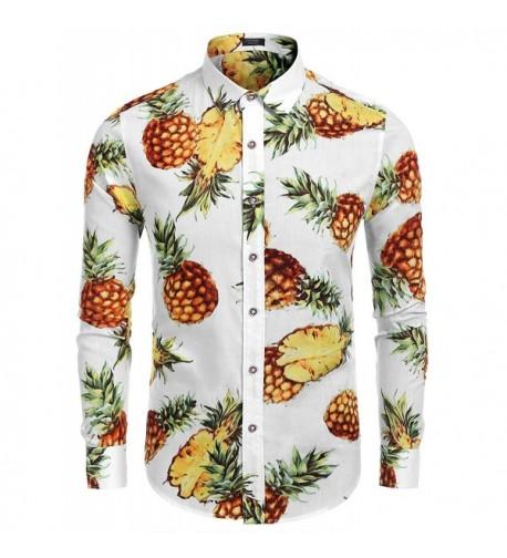 COOFANDY Pineapple Hawaiian Sleeve Tropical