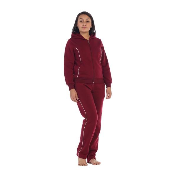 cozy fresh shop for luxury online Women Fleece Sweatsuit Set - Burgundy - CV18CCX3YLW