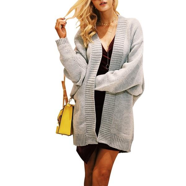 Simplee Womens Batwing Cardigan Sweater