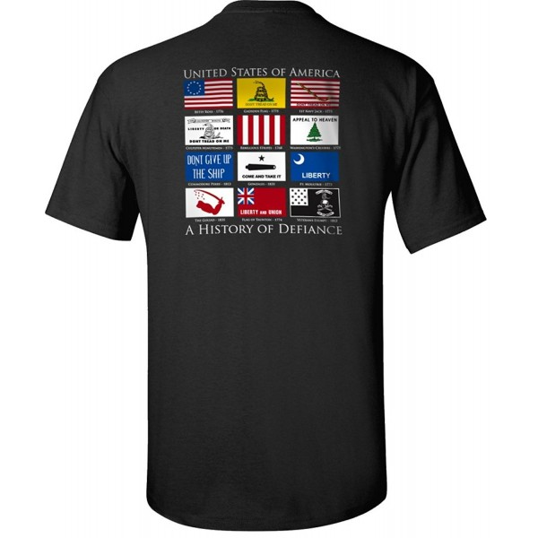 Flags Defiance T Shirt Black XL