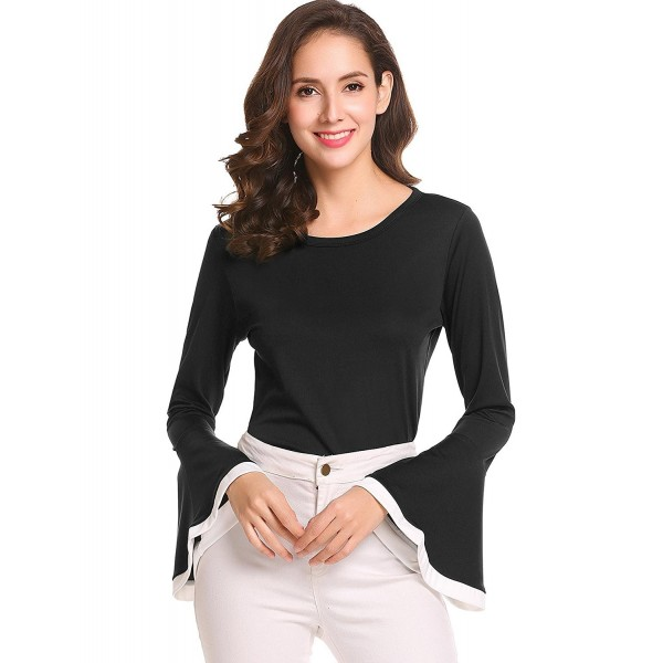 bubblebelle Womens Casual Sleeve Blouse