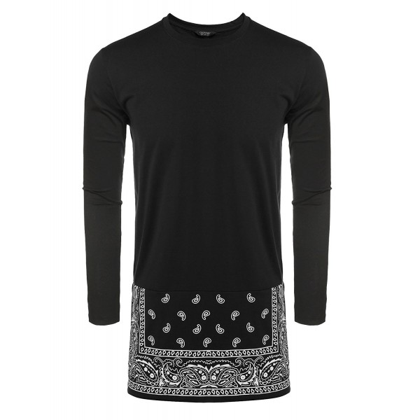 Men s Long Sleeve Hipster Hip-Hop Long Street T-Shirt African ... 15066db68607