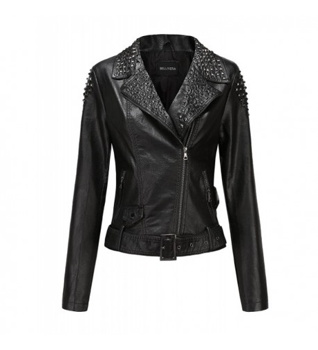 Bellivera Jacket Leather Womens Winter