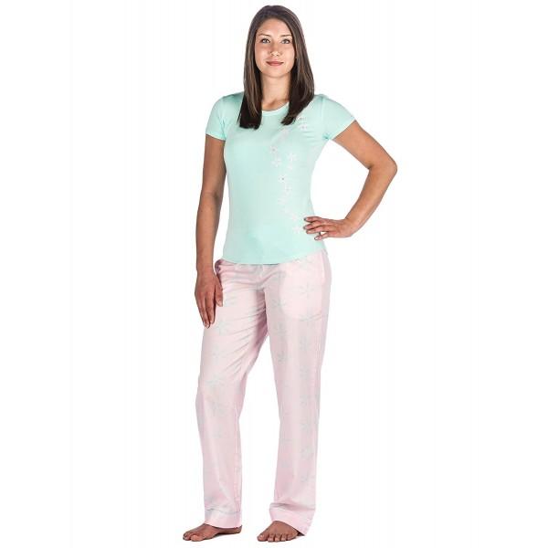 1fe907fdf Womens Premium Cotton Poplin Lounge Sleepwear Set - Starlight - Pink ...