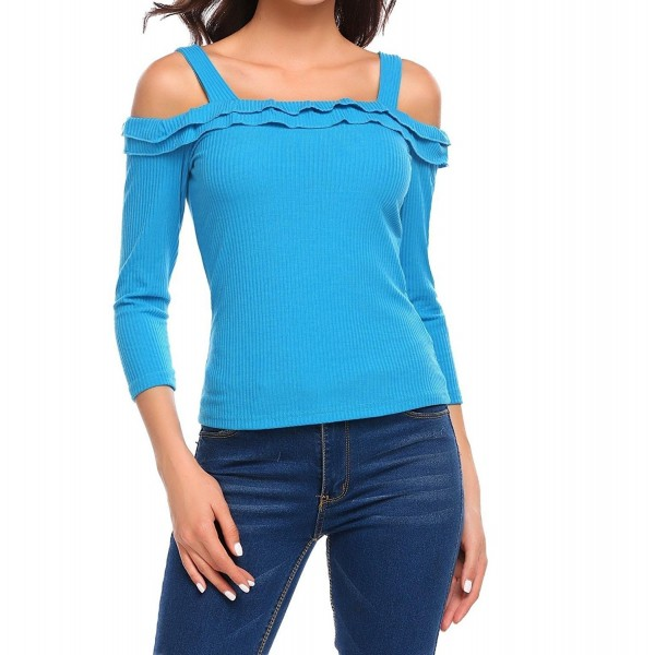 Bulges Womens Shoulder Knitted Sweater